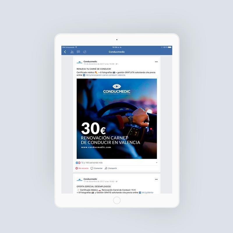 agencia-redes-sociales-valencia-oferta-facebook-conducir